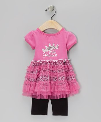Pink 'Wild Princess' Ruffle Tunic & Leggings - Infant & Toddler