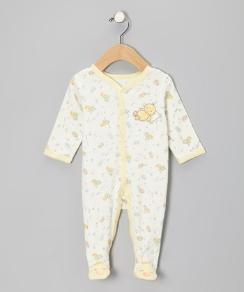 Ivory Sleepy Duck Footie - Infant