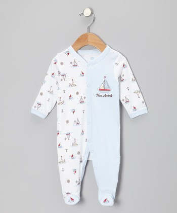 White 'New Arrival' Footie - Infant
