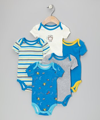 Royal Blue Out of This World Bodysuit Set - Infant