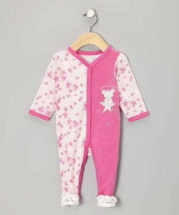 Pink 'Shining Star' Mouse Footie - Infant