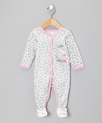 Ivory Leopard Footie - Infant