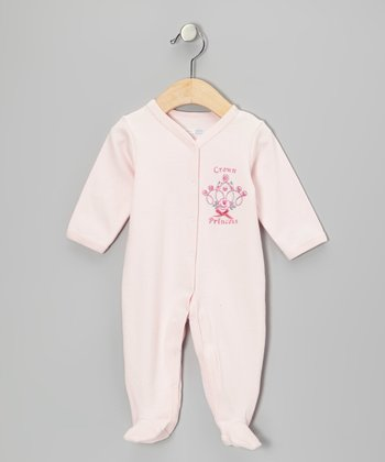 Pink Crown Princess Footie - Infant