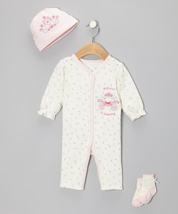 Vitamins Baby Ivory 'Princess in Training' Playsuit Set - Infant