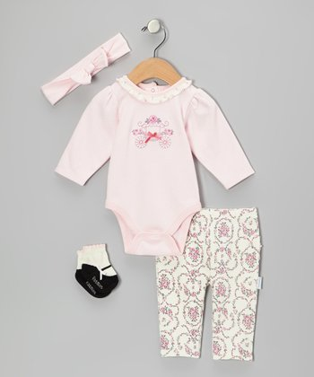 Pink Princess Carriage Bodysuit Set - Infant