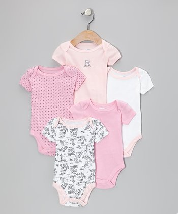 Pink Sweet Bear Bodysuit Set