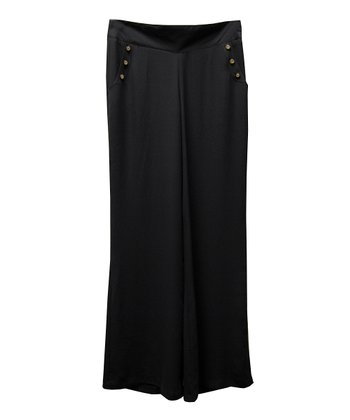 Black Button Palazzo Pants