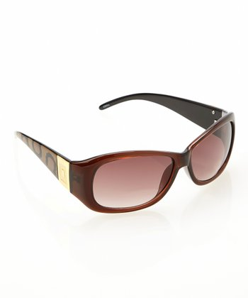 Brown Animal Glam Sun Readers