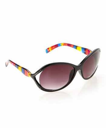 Black Oversize Sun Readers