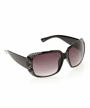 Black Sparkle Wraparound Sun Readers