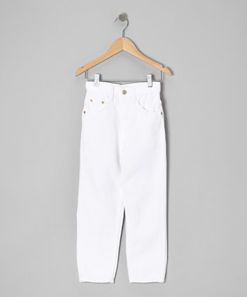 White Straight-Leg Jeans - Toddler & Boys