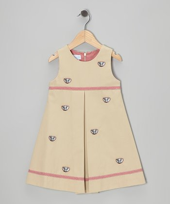 Khaki Alabama Dress - Toddler & Girls