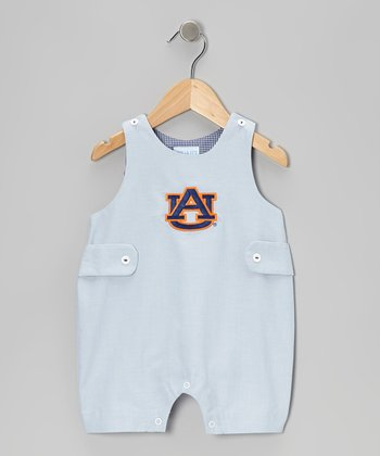 Blue Auburn University Shortalls - Infant