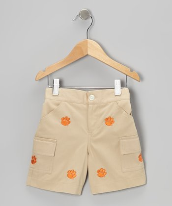 Khaki Clemson Cargo Shorts - Toddler & Boys