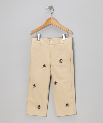 Khaki University of Georgia Bulldog Pants - Toddler & Boys