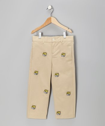 Khaki LSU Mike the Tiger Pants - Toddler & Boys