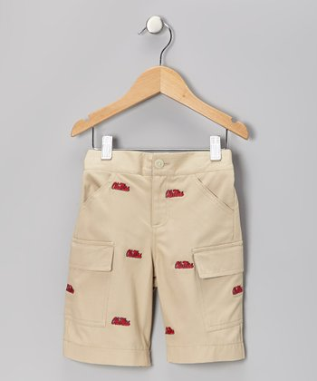 Khaki UM 'Ole Miss' Cargo Shorts - Toddler & Boys