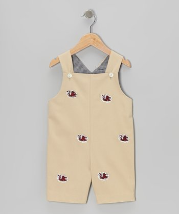 Khaki University of South Carolina Shortalls - Infant & Toddler