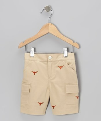 Khaki Texas Cargo Shorts - Boys