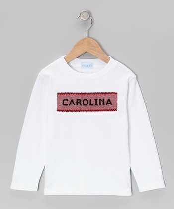 White & Red 'Carolina' Smocked Tee - Infant & Toddler