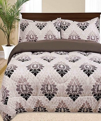 Black Jeffrey Comforter Set