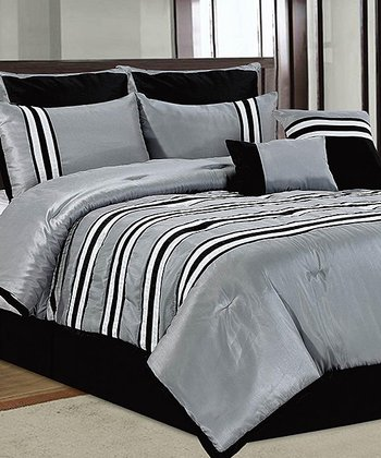 Black & White Isabel Comforter Set
