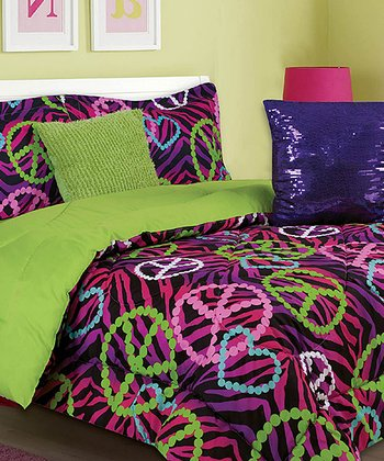 Purple & Green Gino Comforter Set