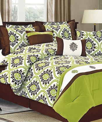 Green Jasper Queen Comforter Set