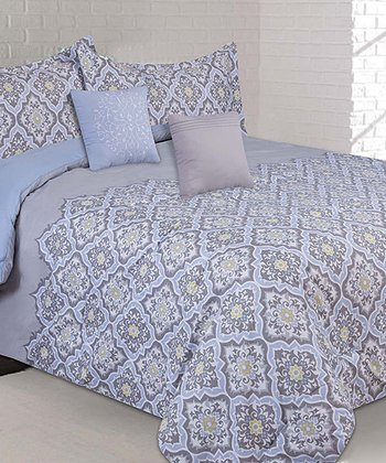 Blue Garden Creek Queen Comforter Set