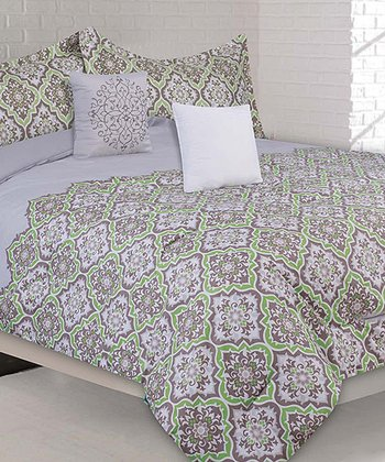 Green Garden Creek Queen Comforter Set