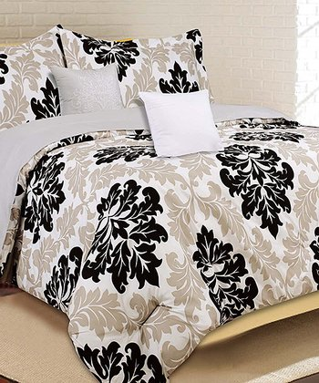 Tan Jefferson Queen Comforter Set