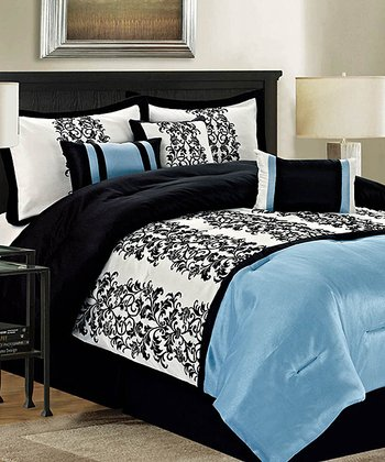 Blue Homestead Queen Comforter Set