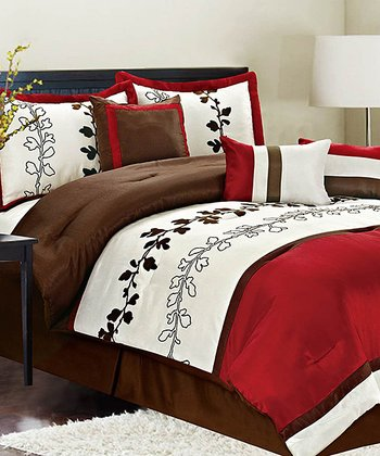 Red Chadwick Queen Comforter Set