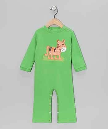Lime Tiger Playsuit - Infant
