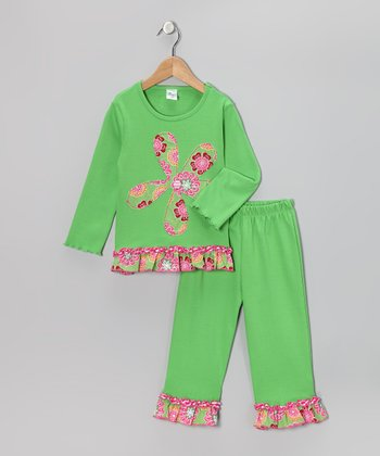 Lime Ruffle Top & Pants - Infant, Toddler & Girls