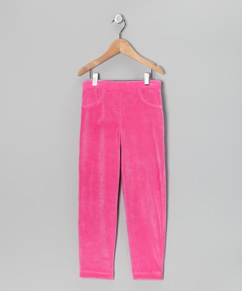 Pink Velour Pants - Toddler & Girls