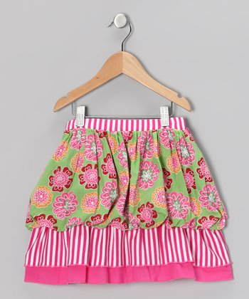 Floral Ruffle Skirt - Girls