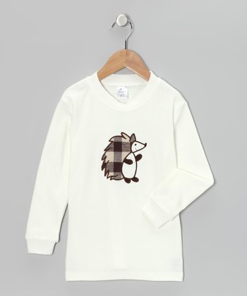 Cream Plaid Hedgehog Tee - Infant & Kids