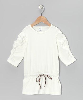 Cream Drop-Waist Tunic - Toddler & Girls