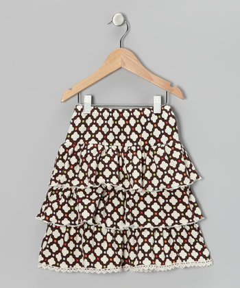 Brown Polka Dot Ruffle Skirt - Infant, Toddler & Girls