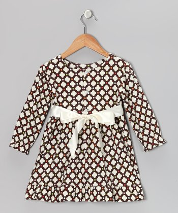 Brown Polka Dot Tunic - Infant, Toddler & Girls