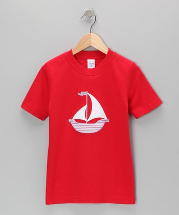 Red Sailboat Tee - Infant, Toddler & Kids