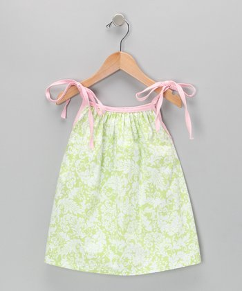 Green Damask Tank - Toddler & Girls