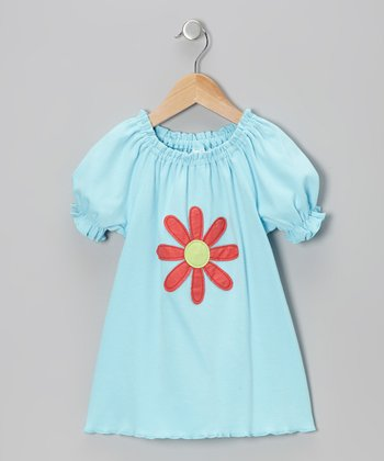 Blue Flower Peasant Tee - Infant, Toddler & Girls