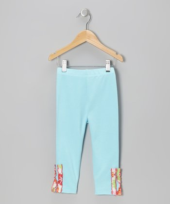 Aqua Ruffle Leggings - Infant, Toddler & Girls
