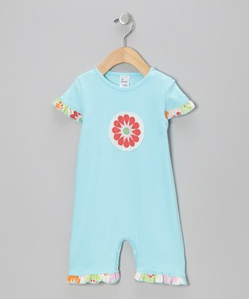 Blue Flower Romper - Infant & Toddler