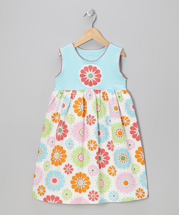 Blue Floral Dress - Infant & Toddler