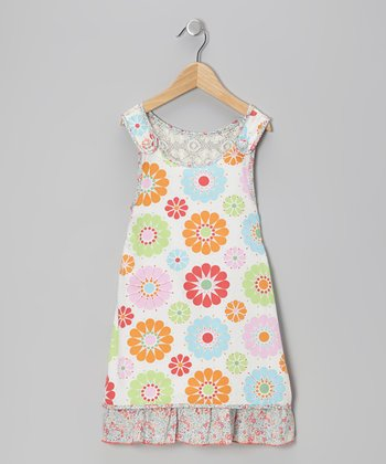 Sky Blue Floral Lace Dress - Infant, Toddler & Girls