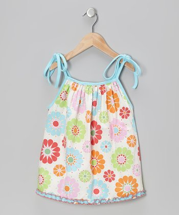 Sky Blue Floral Molly Top - Infant, Toddler & Girls