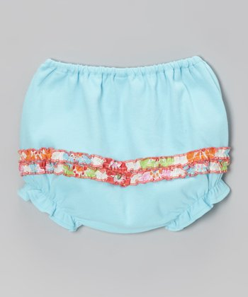 Blue Ruffle Bloomers - Infant & Toddler